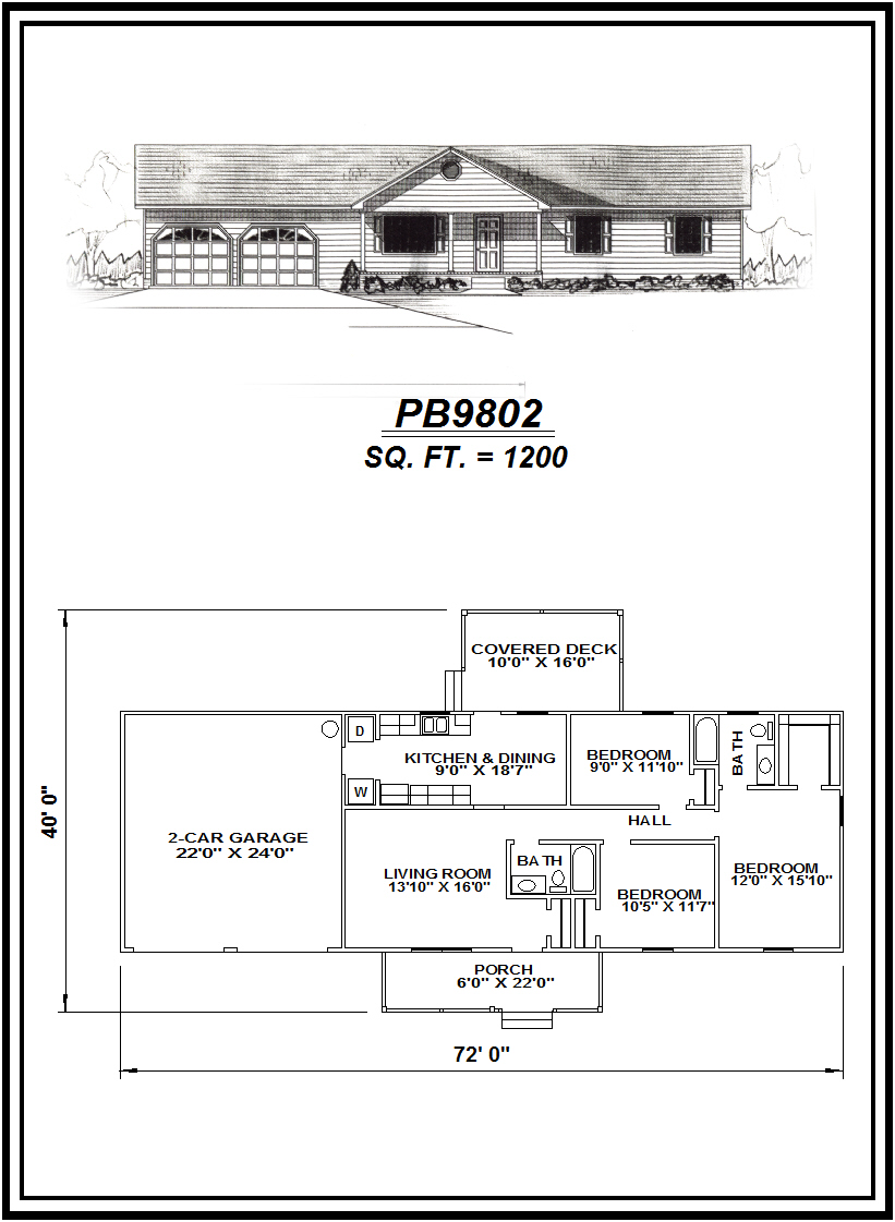 picture of house plan #PB9802
