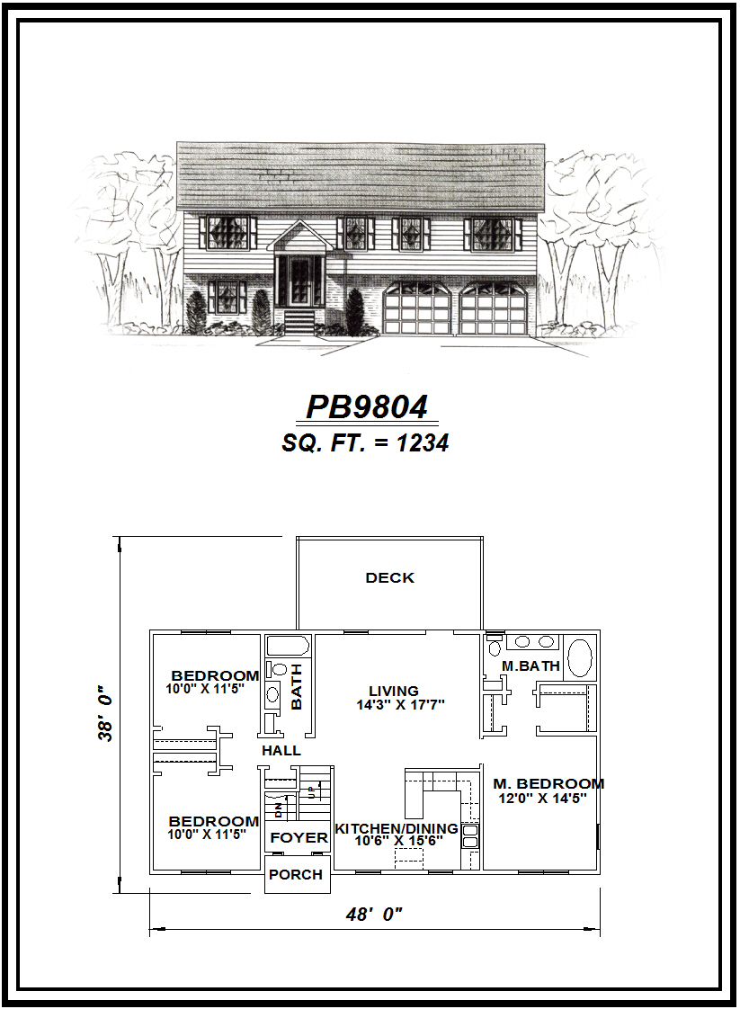 picture of house plan #PB9804