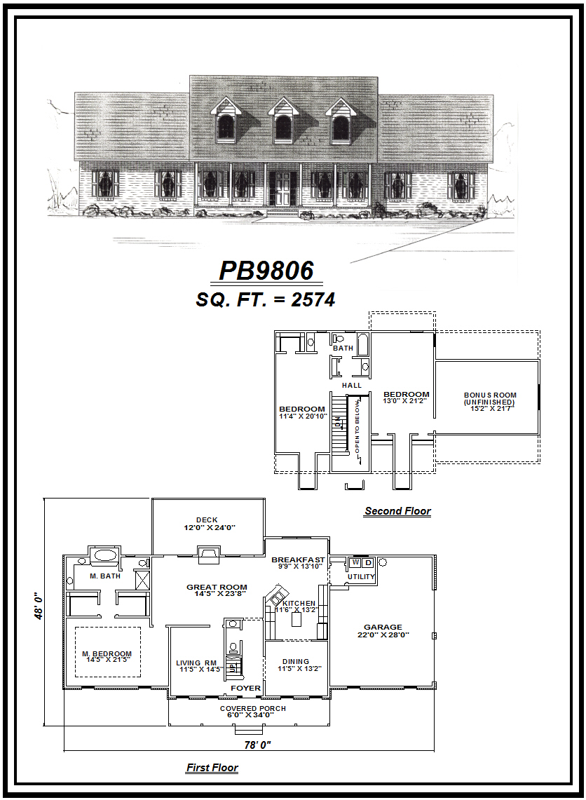 picture of house plan #PB9806