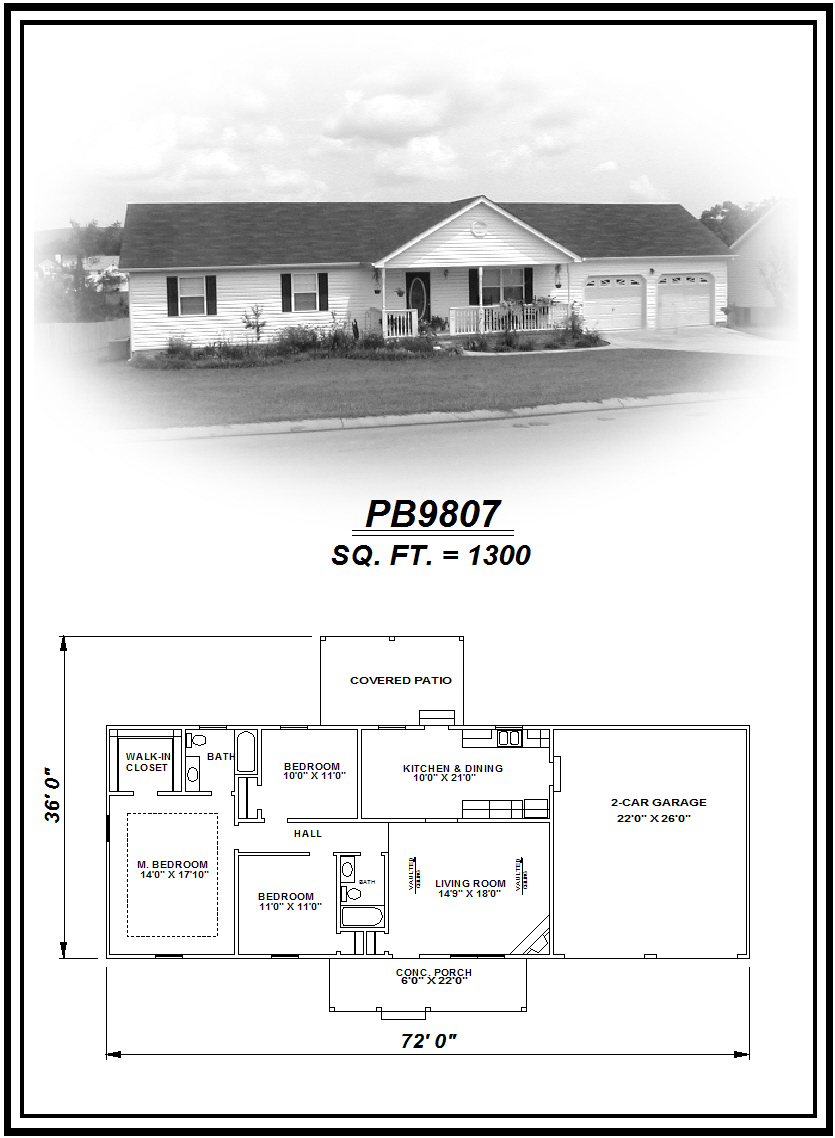 picture of house plan #PB9807