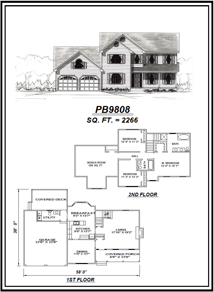 picture of house plan #PB9808