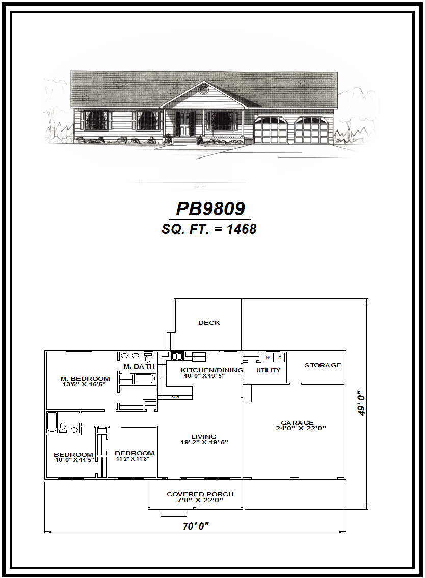 picture of house plan #PB9809
