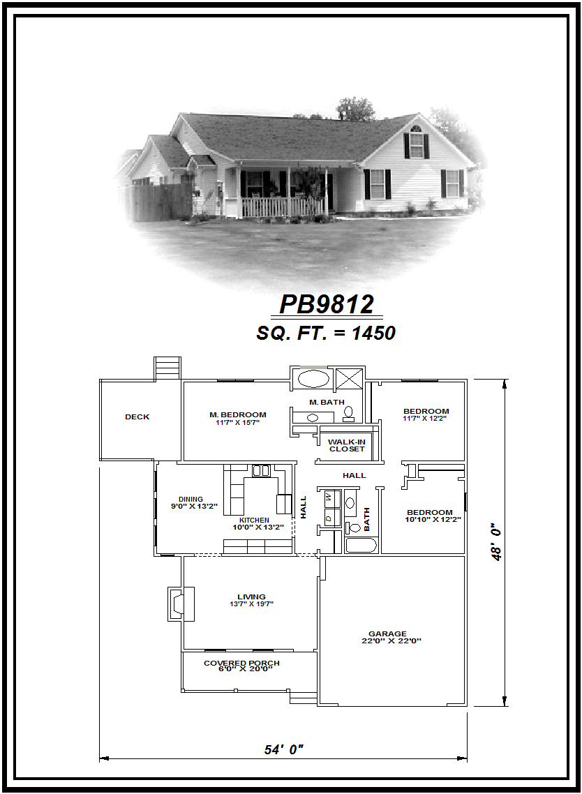 picture of house plan #PB9812