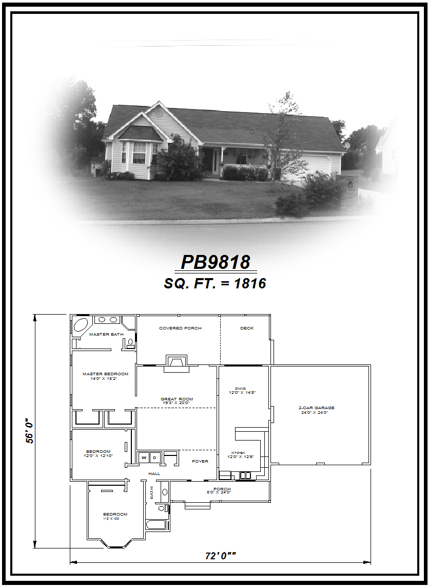 picture of house plan #PB9818