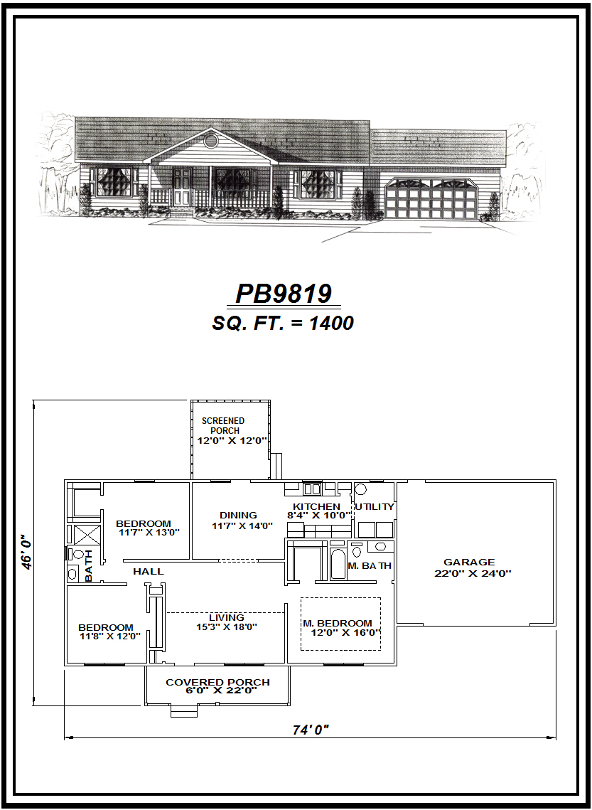 picture of house plan #PB9819