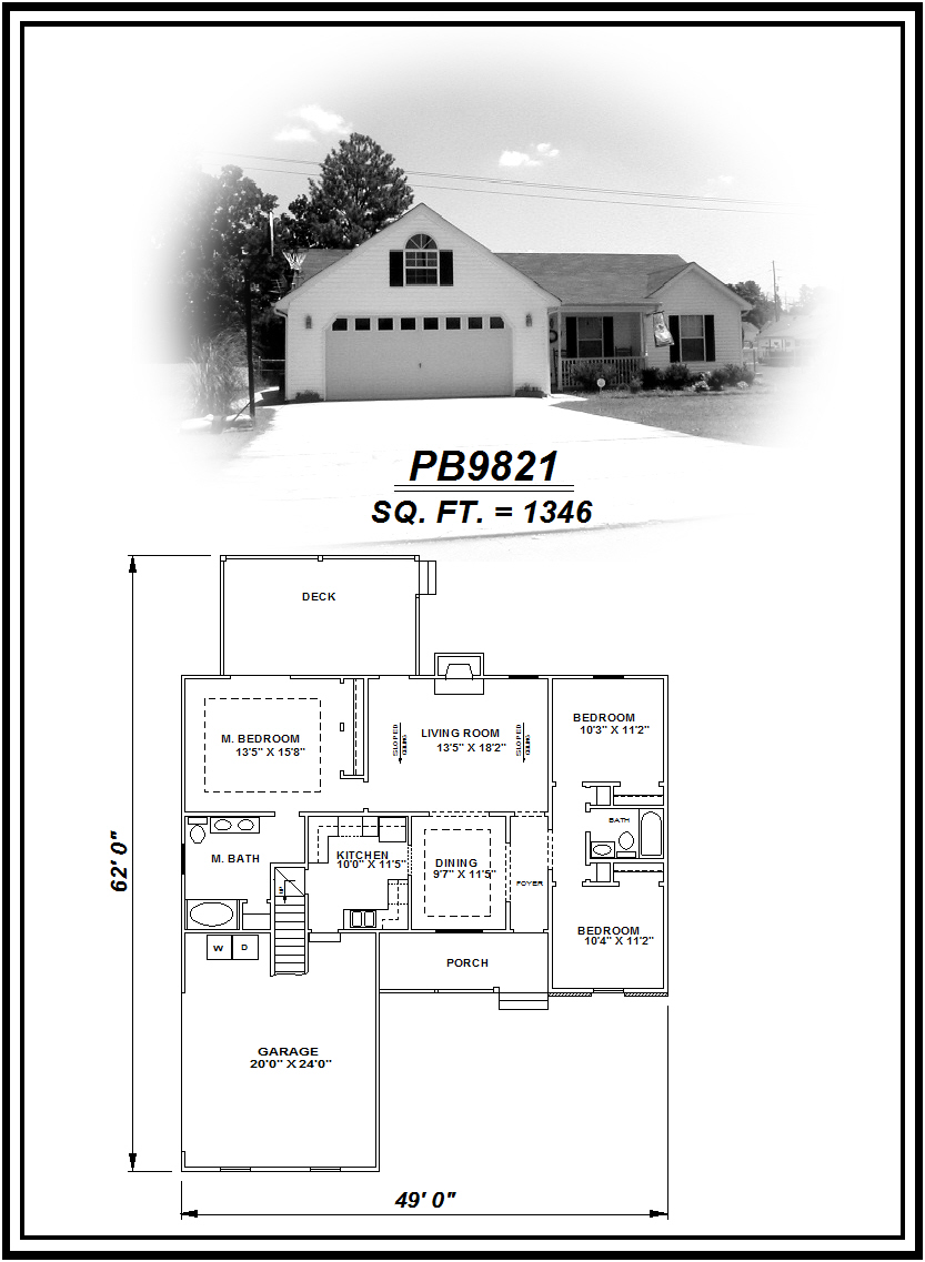 picture of house plan #PB9821