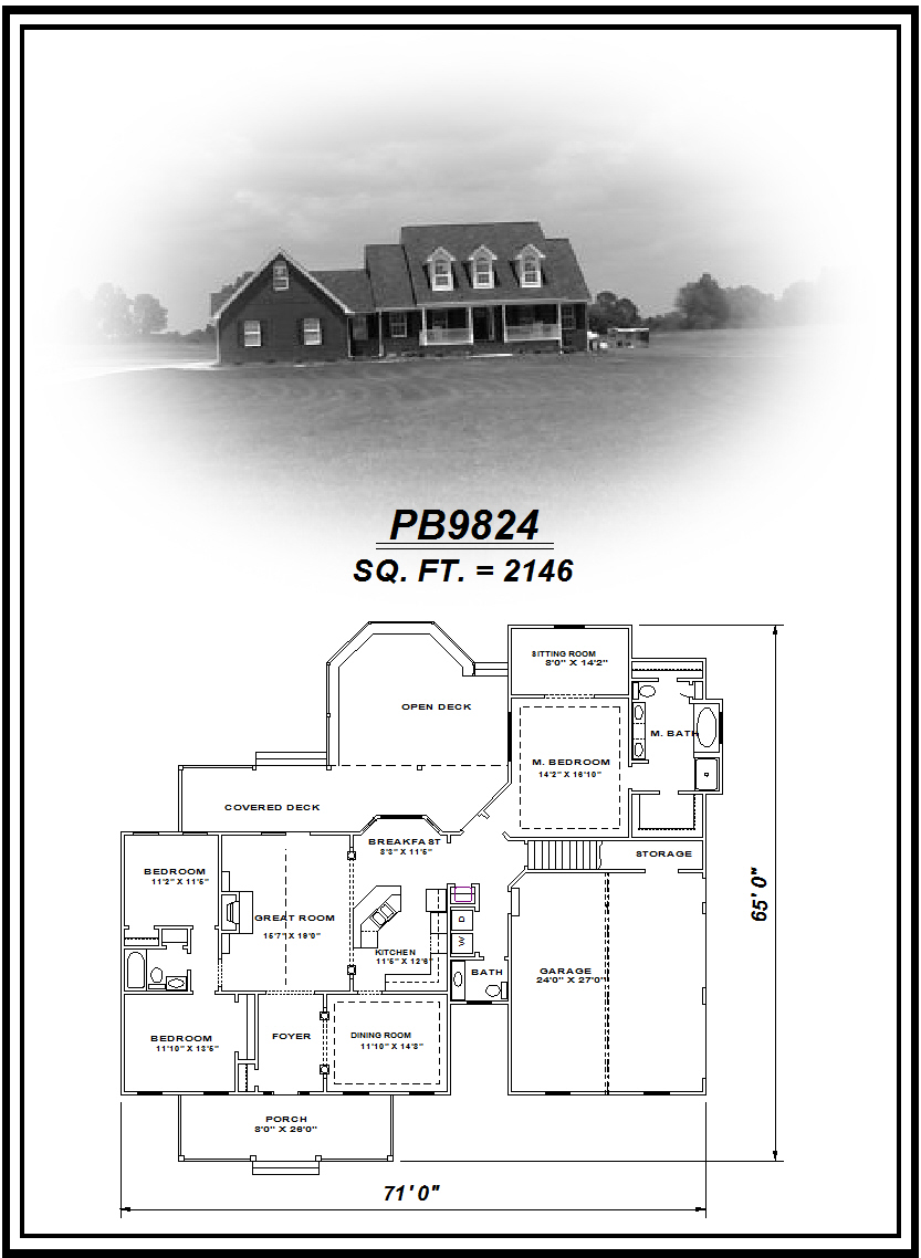 picture of house plan #PB9824
