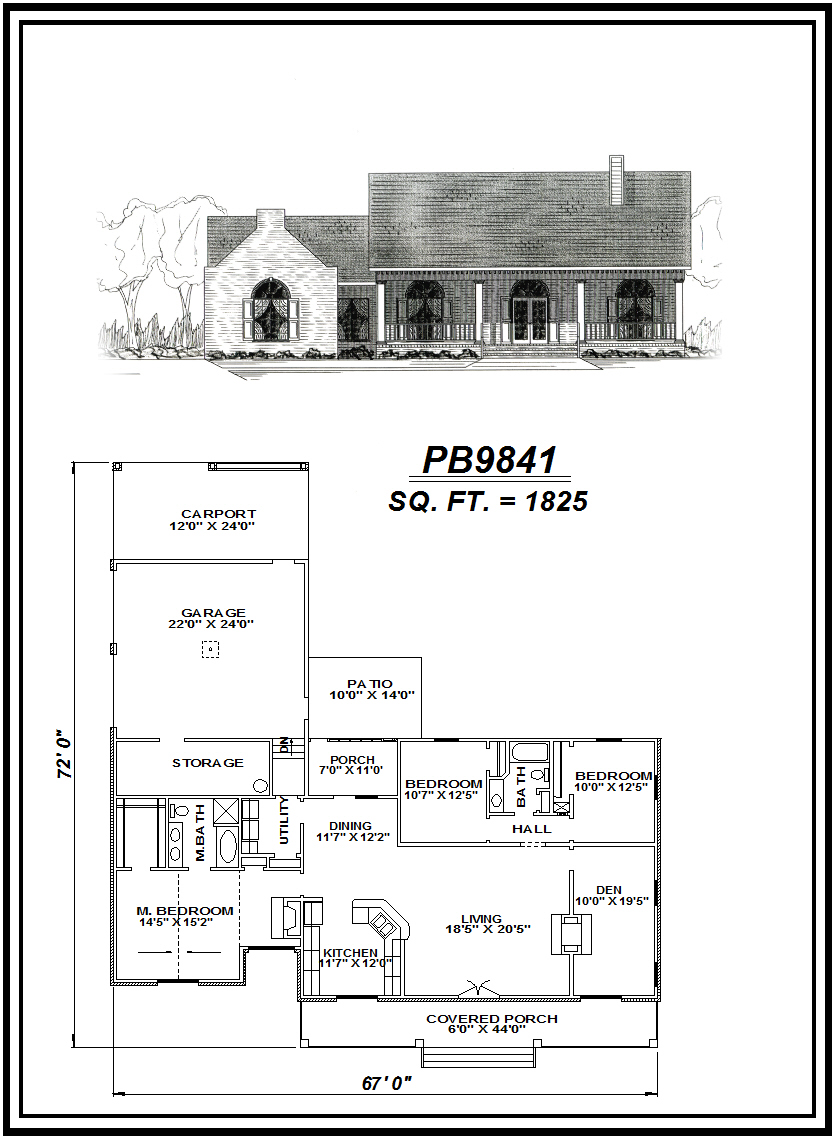 picture of house plan #PB9841