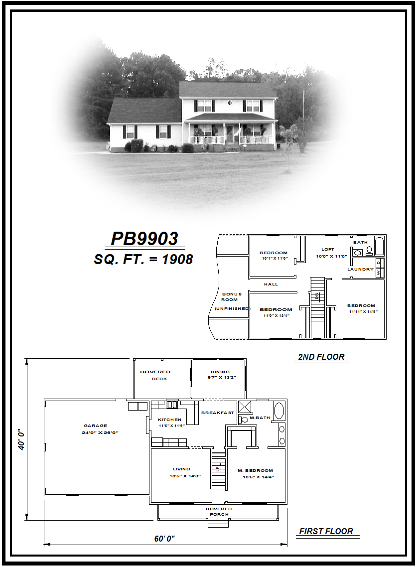 picture of house plan #PB9903