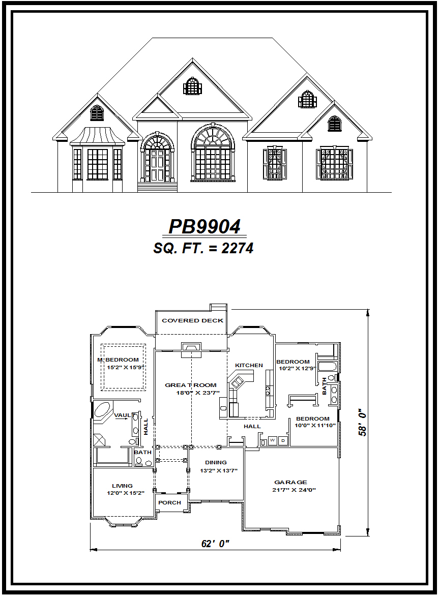 picture of house plan #PB9904