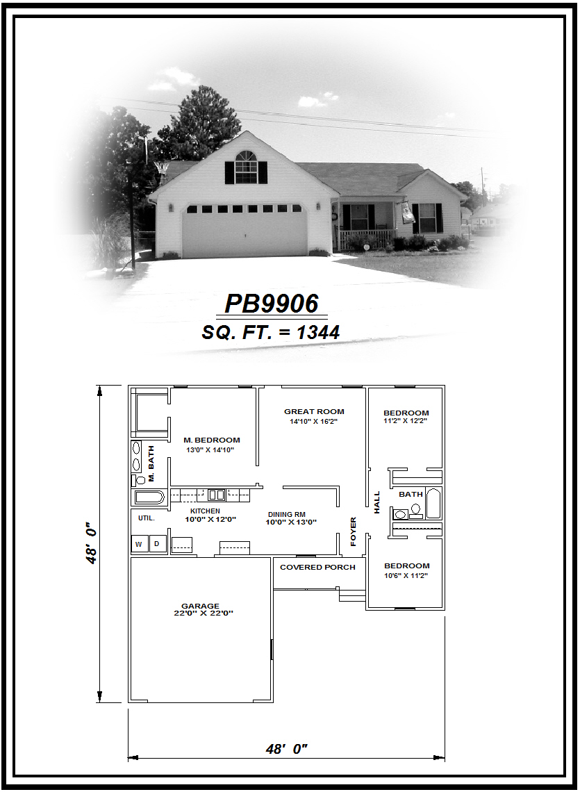 picture of house plan #PB9906