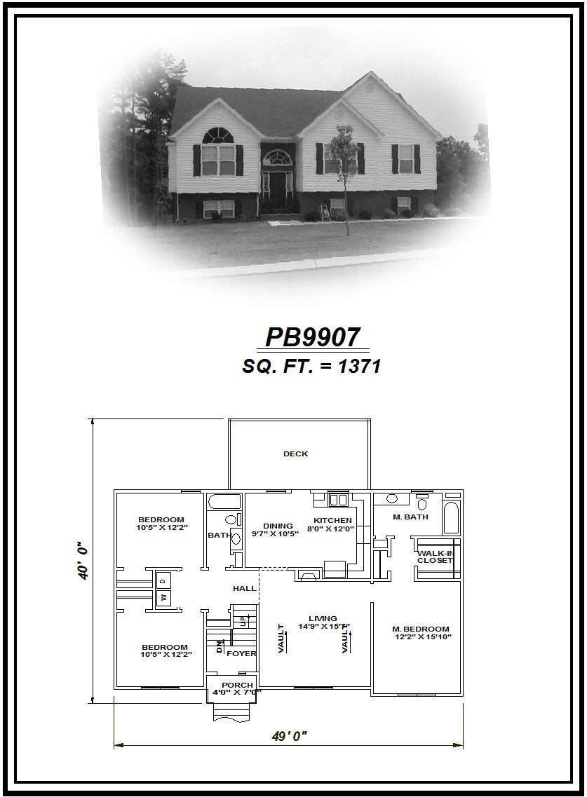 picture of house plan #PB9907