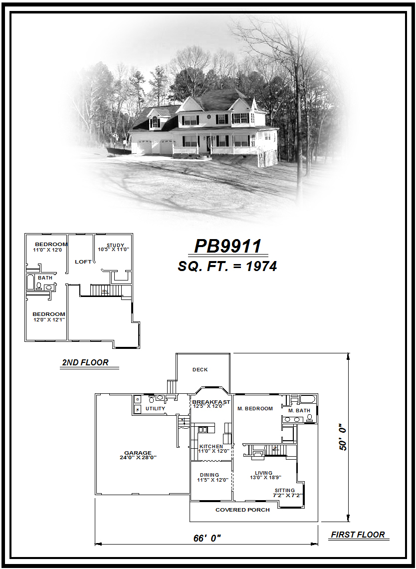 picture of house plan #PB9911