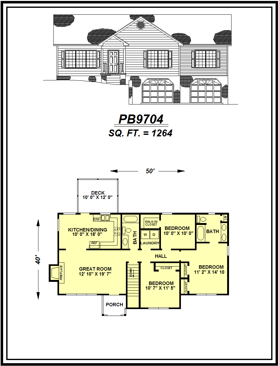 picture of house plan #PB9704