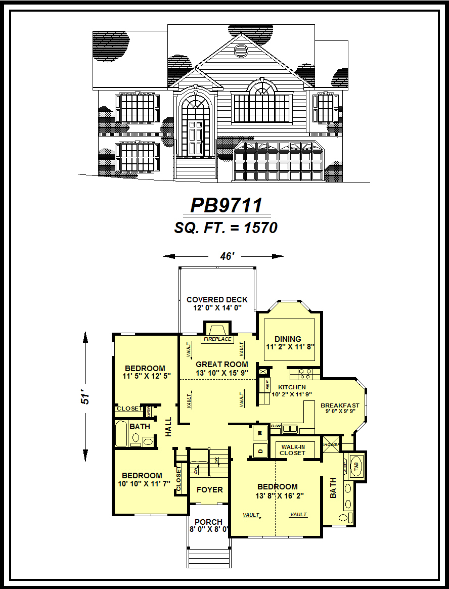 picture of house plan #PB9711