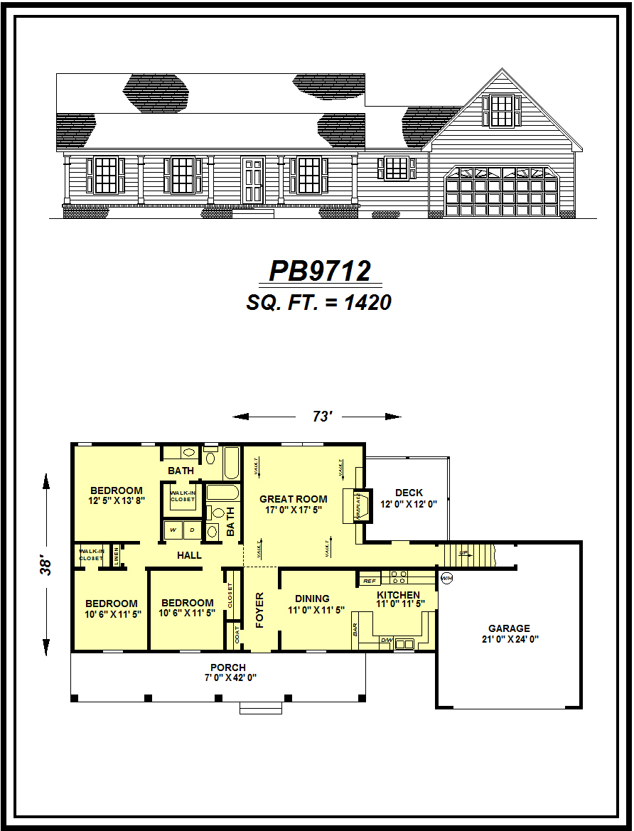 picture of house plan #PB9712
