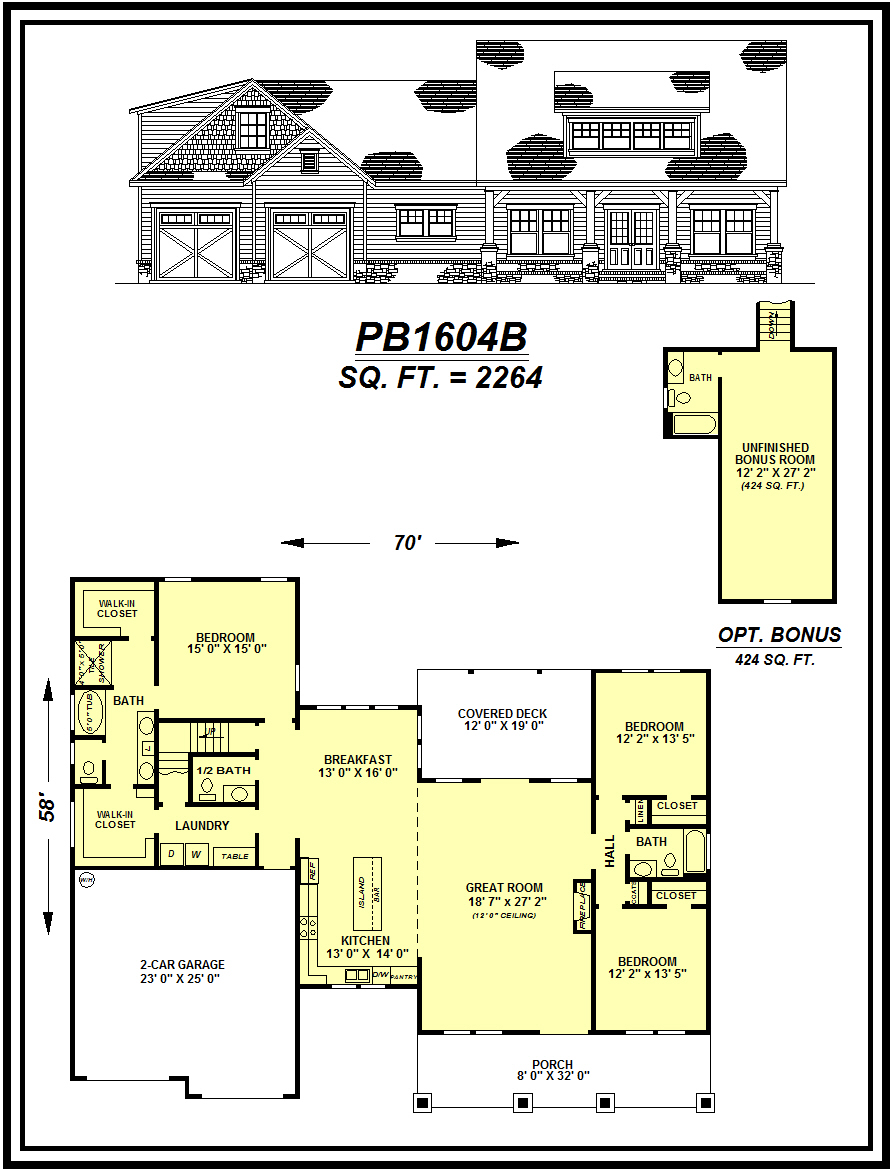 picture of house plan #PB1604B