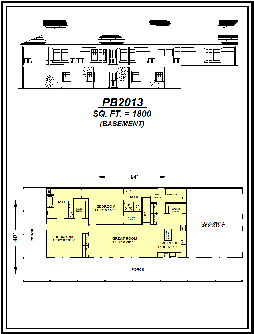 picture of house plan #PB2013