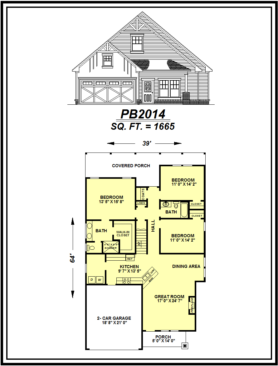 picture of house plan #PB2014