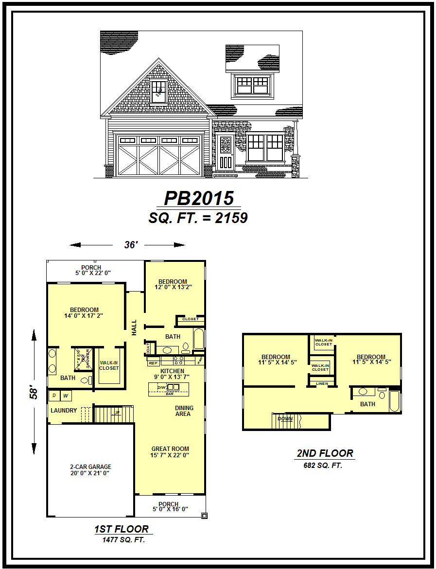 picture of house plan #PB2015