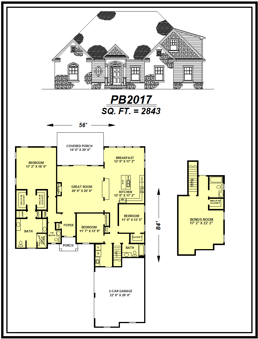 picture of house plan #PB2017