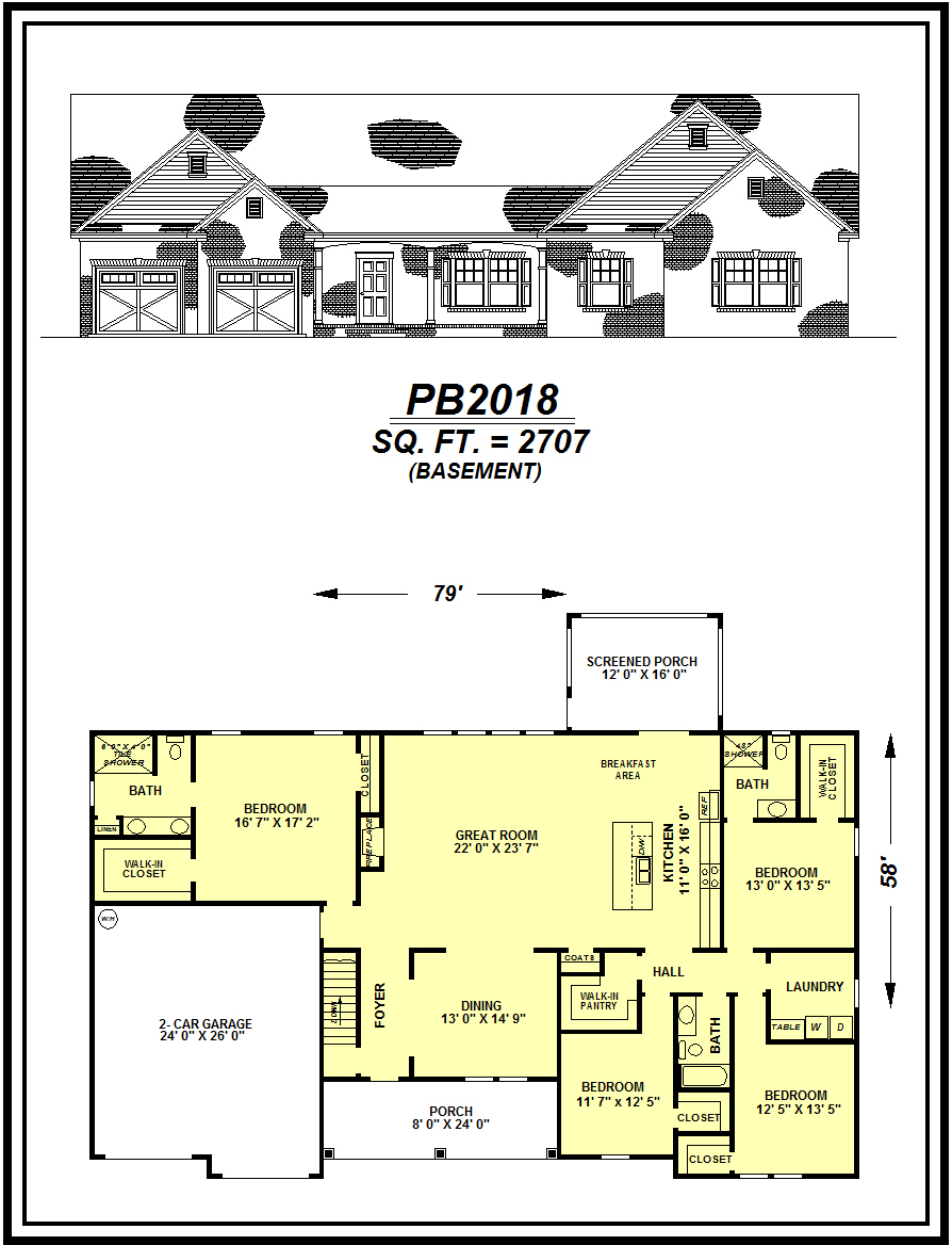 picture of house plan #PB2018