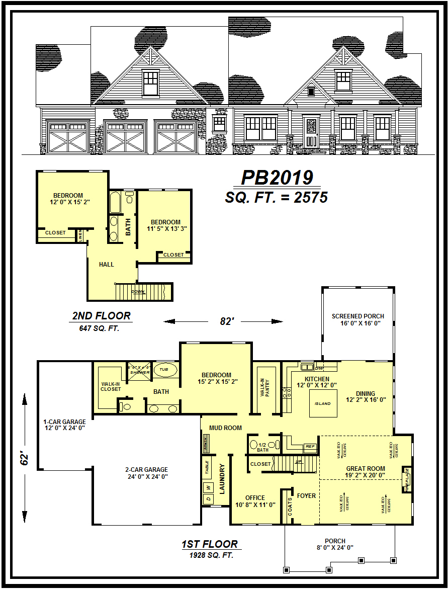 picture of house plan #PB2019
