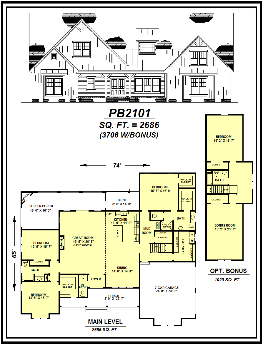 picture of house plan #PB2101