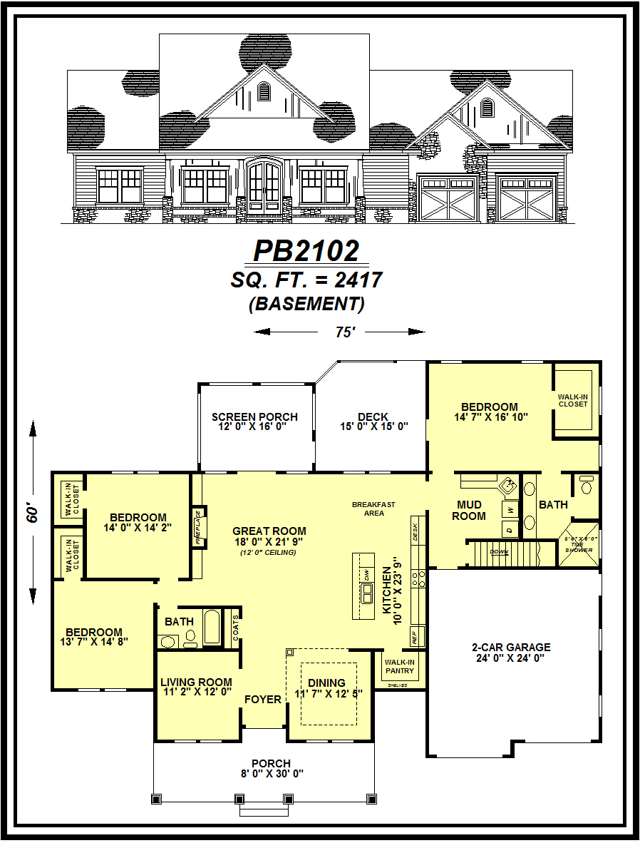 picture of house plan #PB2102
