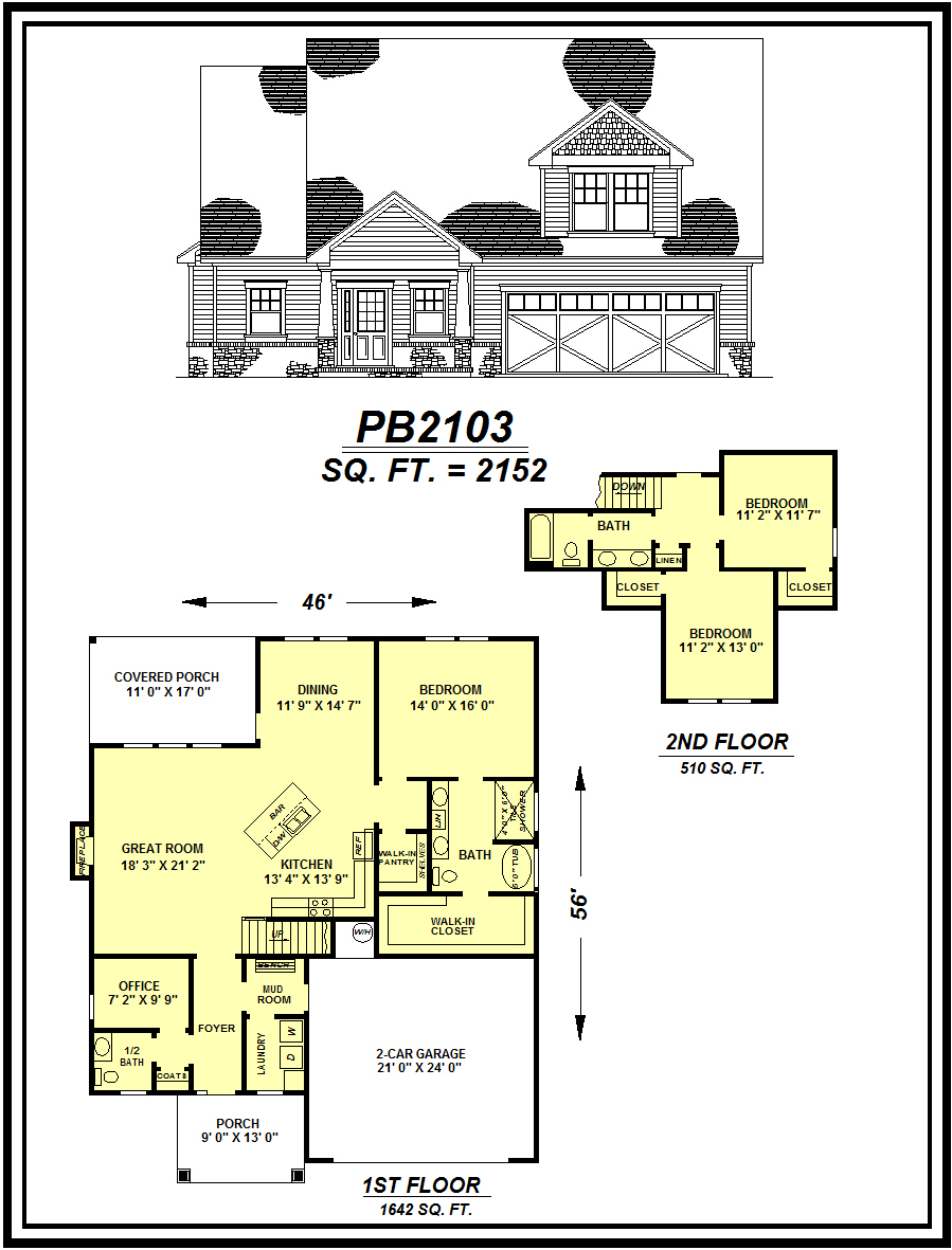 picture of house plan #PB2103