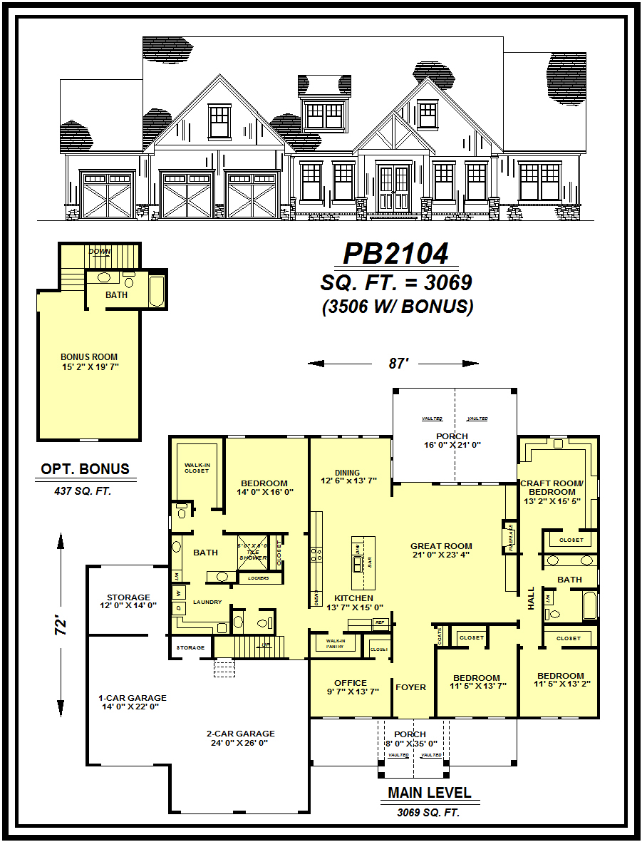 picture of house plan #PB2104